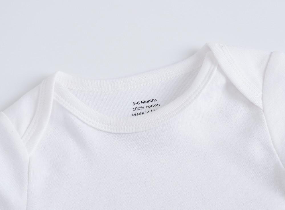 Baby Bodysuits Clothing Blank Long-Sleeve Roupa Newborn White Cotton Menina Boy Solid