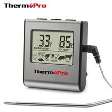 Термопро TP-16 цифровой термометр для духовки цифровой ЖК-дисплей зондовый пищевой термометр таймер для приготовления пищи кухня барбекю мясо