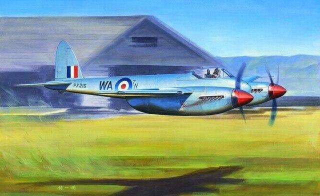 Trumpeter 1/48 De Havilland Hornet F.1 Plastic Model Kit 02893