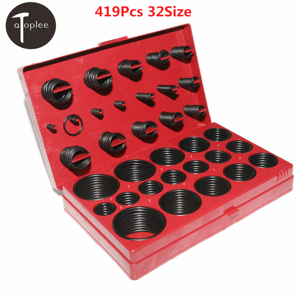 Universal 419Pcs Car Assorted Rubber O Ring Seal Assortment Kit Set Professional Garage Plumbing Transmission O rings Tool