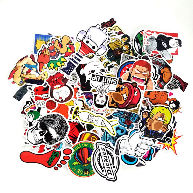 100PCS Anime Movie Painted Sticker Refrigerator Skateboard Child Car Car Wallpaper