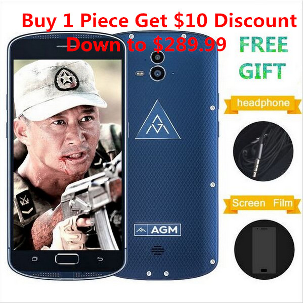 AGM X1 IP68 Waterproof mobile Phone OctaCore OTG 4GB+64GB 13MP Double Rear Camera Fingerprint SOS Shockproof Smartphone