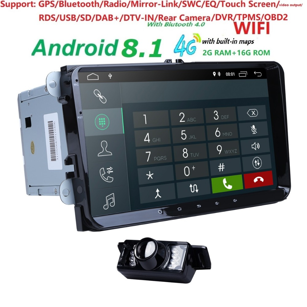 Android 8.1 9 inch for B6 B7 Passat Car Radio GPS For