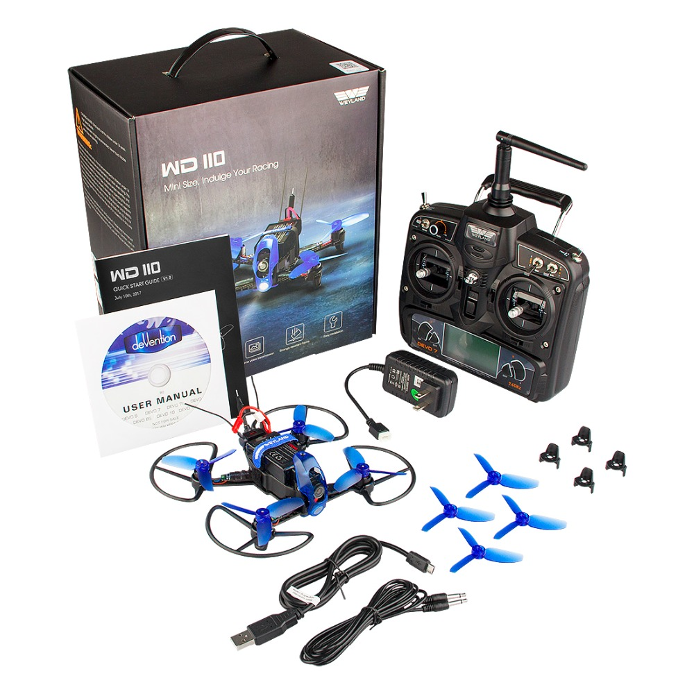 Weyland Rodeo 110 RC <font><b>Drone</b></font> with <font><b>FPV</b></font> HD <font><b>Camera</b></font> RC Quadcopter 5.8G 7CH VTX OSD Mini Brushless Motor Remote Control Helicopter image
