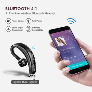 Image 4 - Mpow BH028 Bluetooth Earphone Single Wireless Headphone With 6 Hour Playing Time Handsfree Calling For Car Driver Business Style