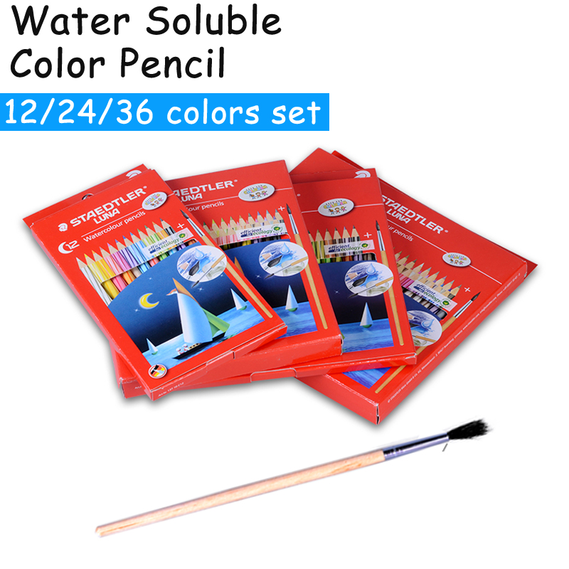 STAEDTLER Safe Non-toxic Water Soluble Colored Pencil Watercolor Color Pencils Set for Write Drawing Art Supplies Lapis De Cor картридж unicorn pp 10 05 для механической очистки воды 10 5мкм