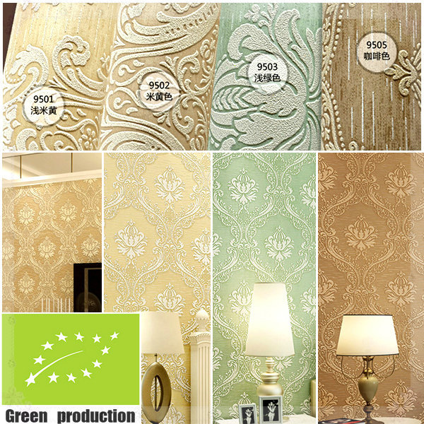 Damascus Style Modern Wallpaper D Reliefs Living Room Bedroom Of Floral Wall Paper Desktop Damask Wallpapers