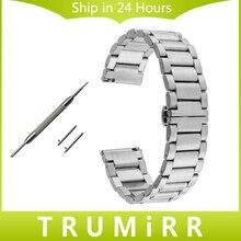 De Liberación rápida de Acero Inoxidable Venda de Reloj para Hombres Mujeres Estrella Montblanc Timewalker Hebilla de Mariposa Correa de Pulsera 18mm 20mm 22mm