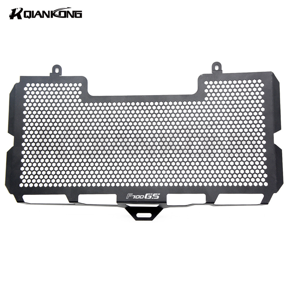 Black Motorcycle Accessories Radiator Guard Protector Grille Grill Cover for BMW F700GS 2008-2012 motorcycle radiator grille protective cover grill guard protector for 2008 2009 2010 2011 2012 2016 suzuki hayabusa gsxr1300