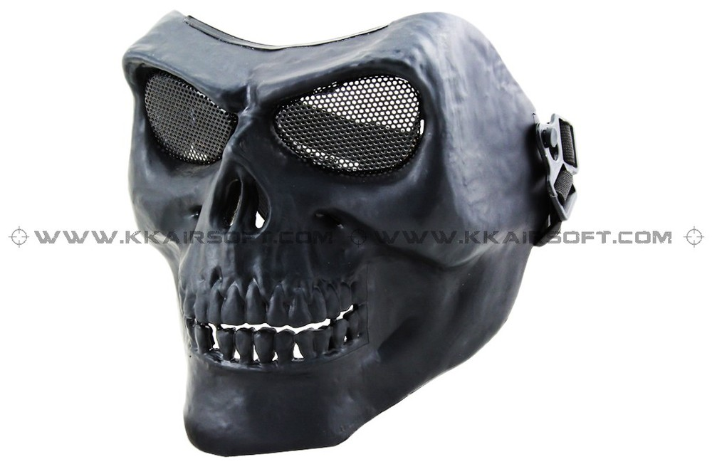CACIQUE Party Mask Face Mask Version II Black Silverish Black KK Gas Mask [MK-11]