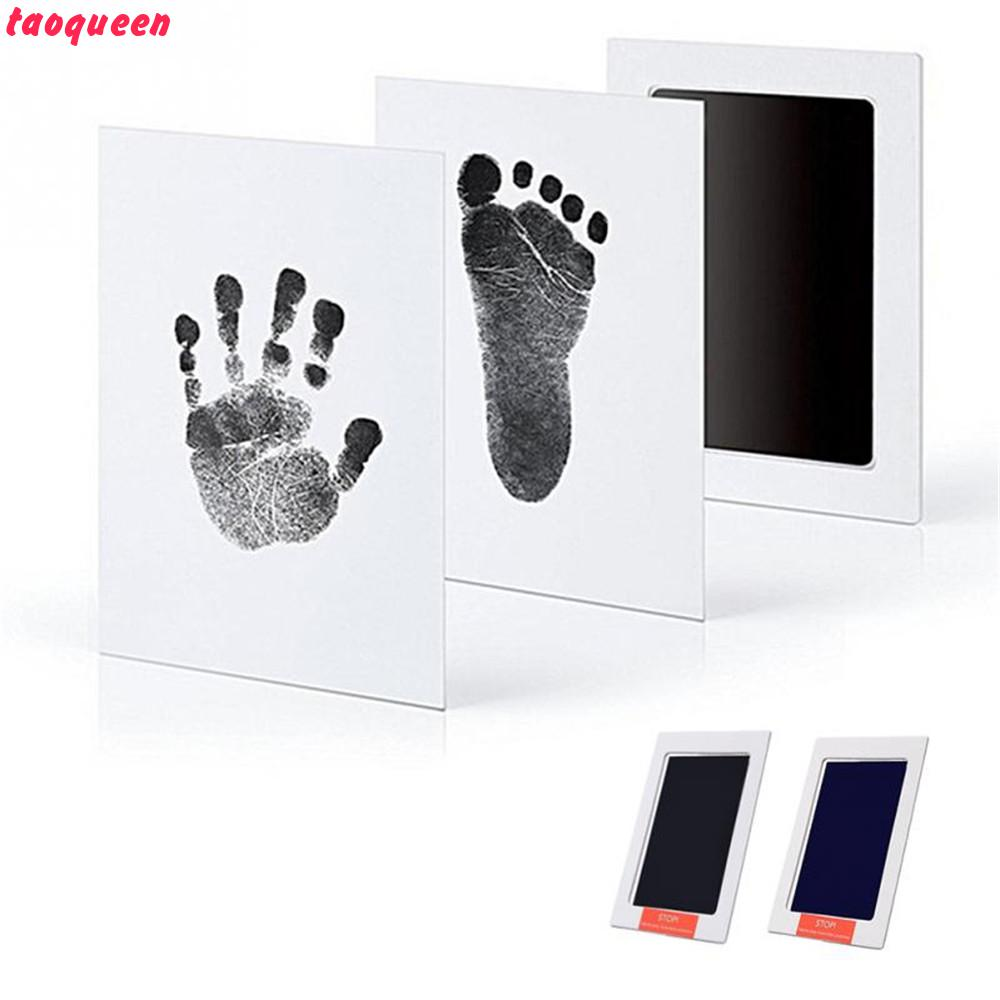 Taoqueen Kit With An Included Clean-Touch Ink Pad  Hand & Footprint Makers  Baby Souvenirs  Baby Handprint Footprint Photo Frame