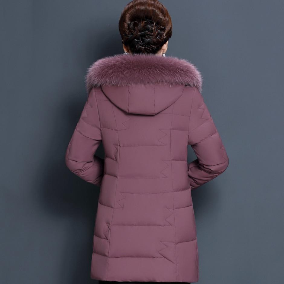 À Long Bas Black De Le D'hiver Couleur Veste Nouvelle Femelle Plus Vers Col S699 Fourrure Chaud bean Capuchon Paste Taille Solide Mode Femmes La qw8FW6A