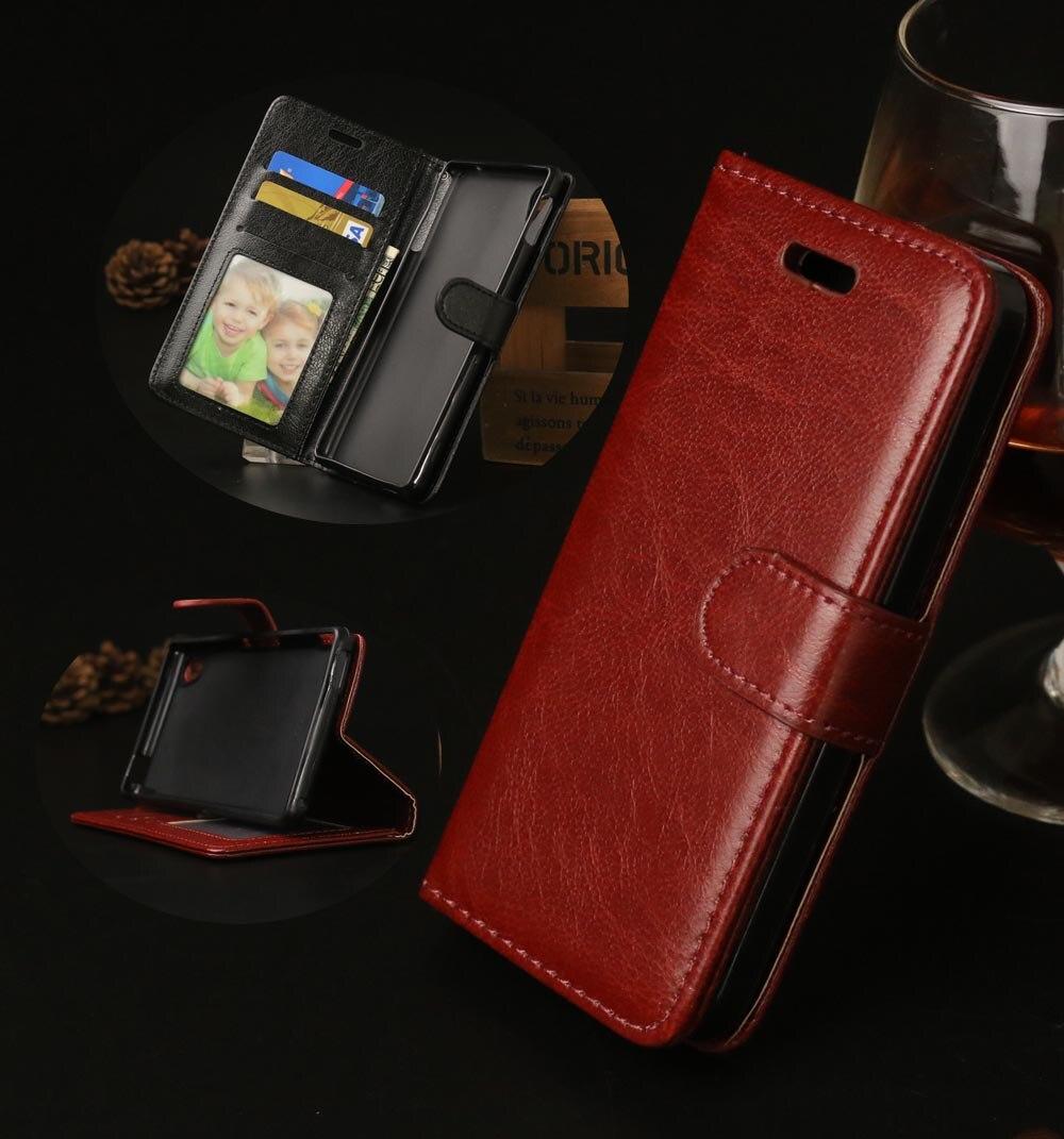 M4 Aqua Luxury PU Leather Phone Case For Sony Xperia M4 Aqua E2303 E2333 E2353 Wallet Case Stand Card Holder Magentic Flip Cover