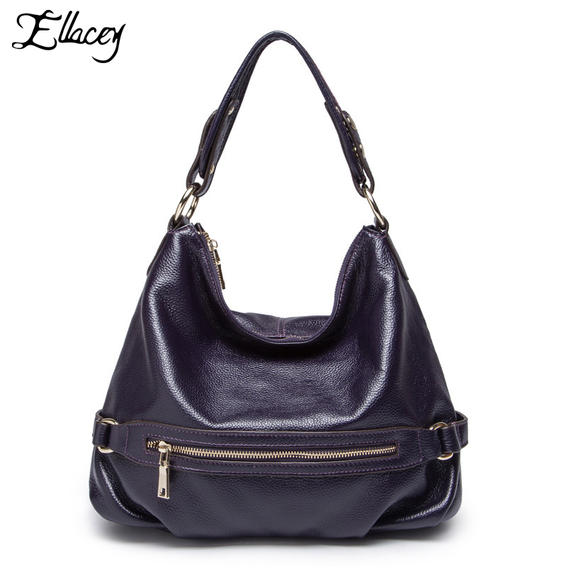ELLACEY Brand 100% Real Genuine Leather OL Style Women Handbag Tote Bag Ladies Casual Shoulder Crossbody Bags Elegant Women Bag