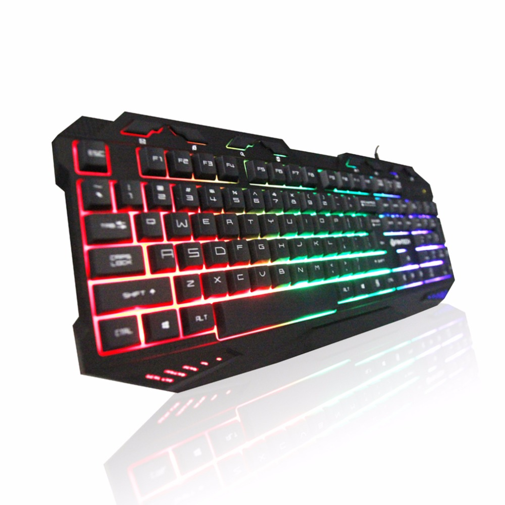 FANTECH K10 Gaming Professional Keyboard Switches Metal Wired USB Game Keyboard 112 Key Plug and Play For Pro PC Gamer