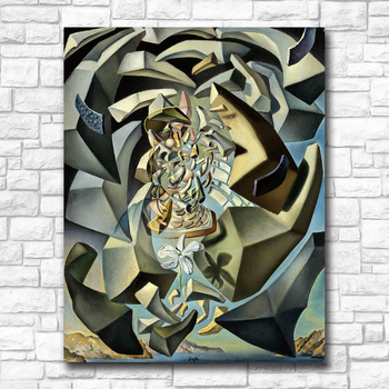 Wall art Salvador Dali 1954 Microphysical Madonna Painting Living Room Home Decoration Oil Painting on Canvas Wall Painting 4