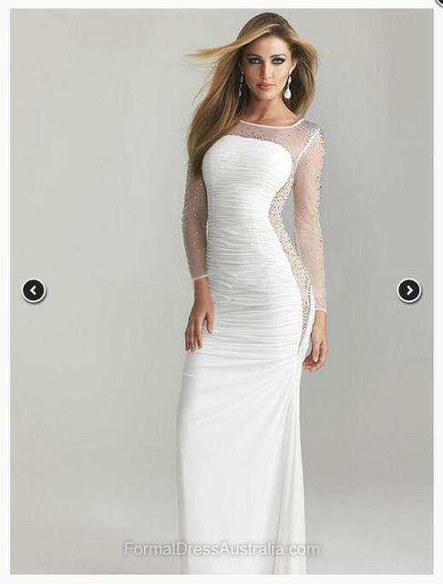 На свадьбу платье вечернее с рукавами