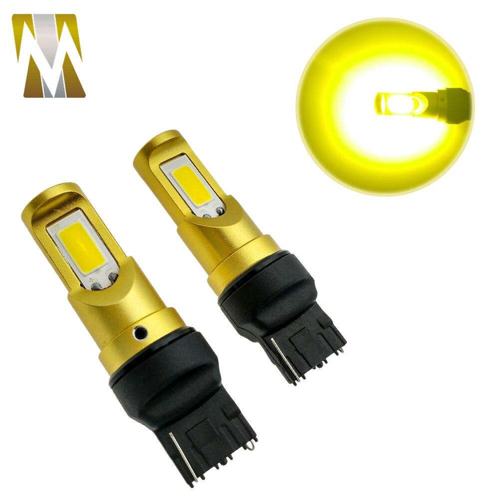 2 шт./лот 10 Вт T20 WY21W LED указатель поворота белый желтый COB Чип 7440 автомобилей свет Фары заднего хода день лампочки