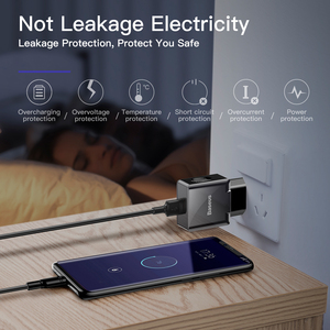 Image 3 - Baseus מהיר תשלום 3.0 USB מטען 18W QC3.0 QC טורבו מטען מהיר עבור iPhone סמסונג Xiaomi Huawei קיר נייד טלפון מטען