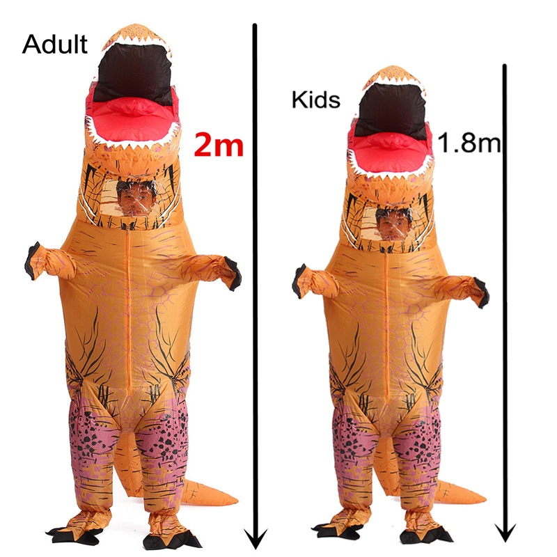 Inflatable Dinosaur Cosplay Costumes Child Adult Halloween Costumes For Kids Halloween Party t rex Dinosaur Costume Cosplay Hot