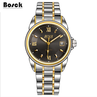 2016bosck New Mechanical Watches Stainless Steel Gold Watch Waterproof Casual Watch Relojes Hombre Marcas Famosas Relogio