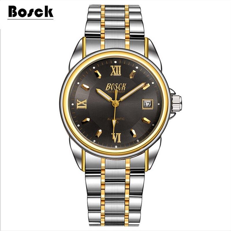 Bosck font b men s b font font b mechanical b font watches belts business watches