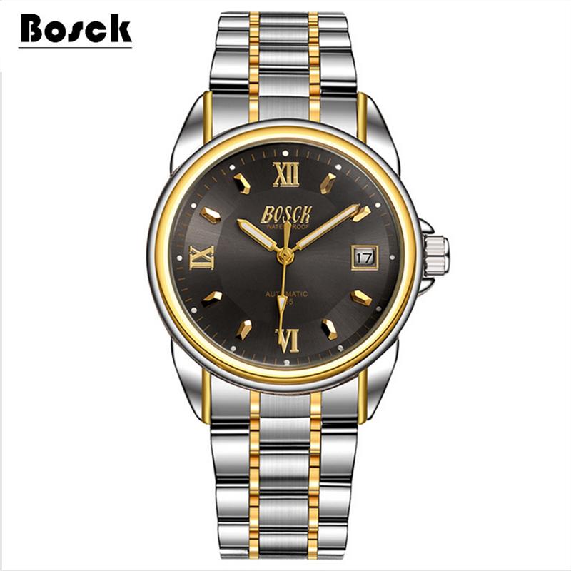 Prix pour Bosck hommes de mécanique montres ceintures d'affaires montres de luxe mode montre relogio masculino erkek kol saati montre homme reloj
