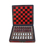 2019 Chess Games Set of Wooden Coffee Table Antique Miniature Chess Board Chess Pieces Move Box Set Retro Style Lifelike