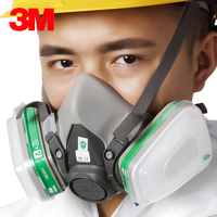 3M 6200 With 6004 Reusable Half Face Mask Respirator Ammonia Methylamine Organic Vapor Cartridge NIOSH&LA Standard