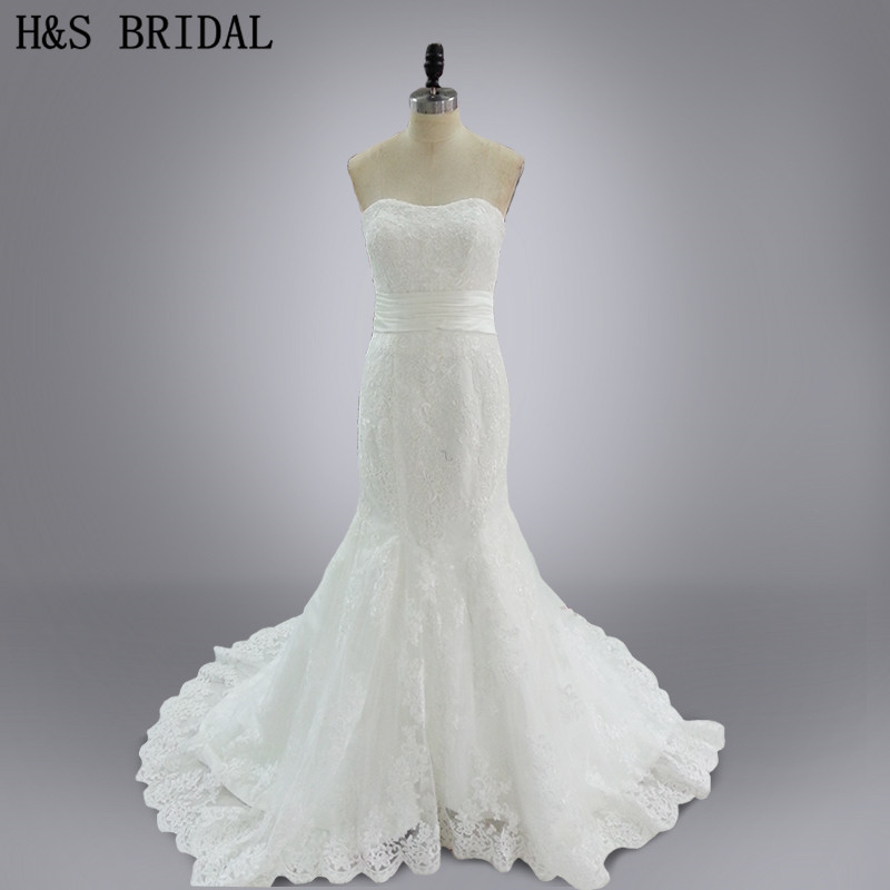 Настоящее модель Vestido де noiva сшитое V шеи милая кружева свадебное платье свадебные платья