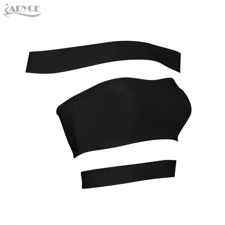 Adyce 2019 New Sexy Bodycon Crop Top Chic Girl Runway Design Off the Shoulder Slash Neck Sleeveless Cross Bandage Tank Top