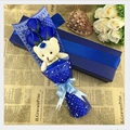 Factory direct sale Best-selling teddy bear and rose soap flowers creative Teacher's day and Christmas day gifts free shipping