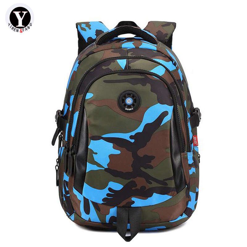 Yirenfang 2017 Designer Women Backpack Camouflage Printing School Bags For Teenagers Student Girls Waterproof Backpack Men fashion camouflage printing tank top for men