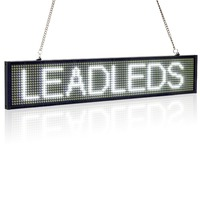 50cm P5 White SMD Led Sign Phone WIFI Remote Control Programmable Scrolling Message LED Display Board for Business