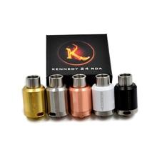 24 Kennedy RDA Atomizador Rebuildable Cigarro Eletrônico SS Material 24mm Diamter para Vape Mods Caixa Vaporizador Cigarros eletrônicos Kit