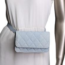 Vidukļa soma Sieviešu cietie džinsi Fanny pakas dāmas luksusa kvalitātes Messenger somas jostas maku naudas maiss lozenge vidukļa iepakojumos