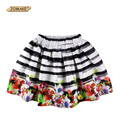 Girls Skirts Floral Digital Printing Kids Pleated Skirt Teenager Girl Princess Skirt New Fashion Party Children Girls Clothes