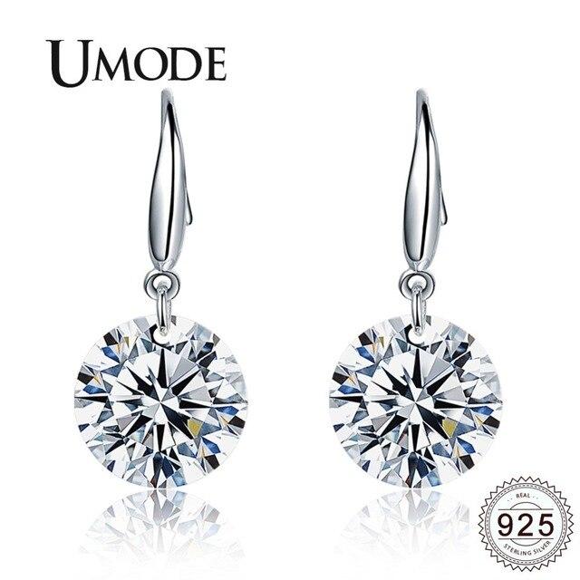 UMODE Korean 925 Sterling Silver Drop Earrings for Fashion Women Wedding Silver Color Jewellery boucles d oreille femme ULE0344