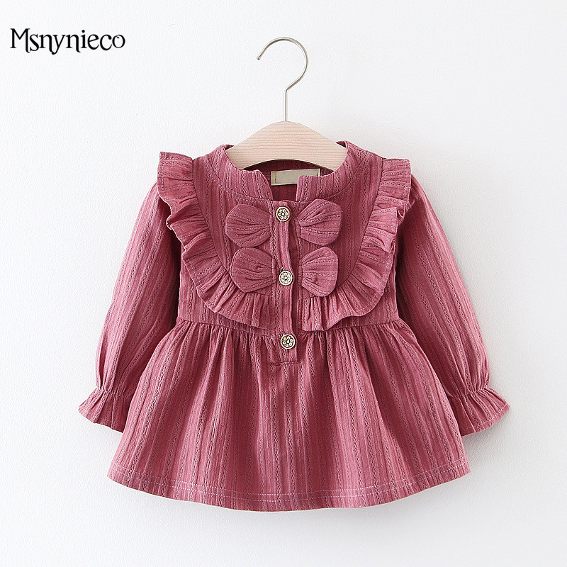 Infant Baby Dress Cute Long Sleeve Girl Dress 2018 New Spring Summer Fashion Style Children Clothing Toddler Girls Clothes