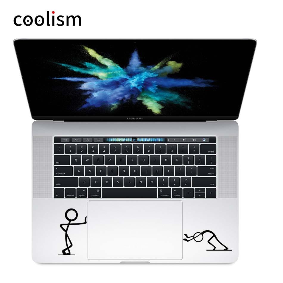 Push Stick Man Humor Trackpad Наклейка Виниловая наклейка для ноутбука для Macbook Pro Air Retina 11 12 13 15 дюймов Mac ноутбук тачпад кожа