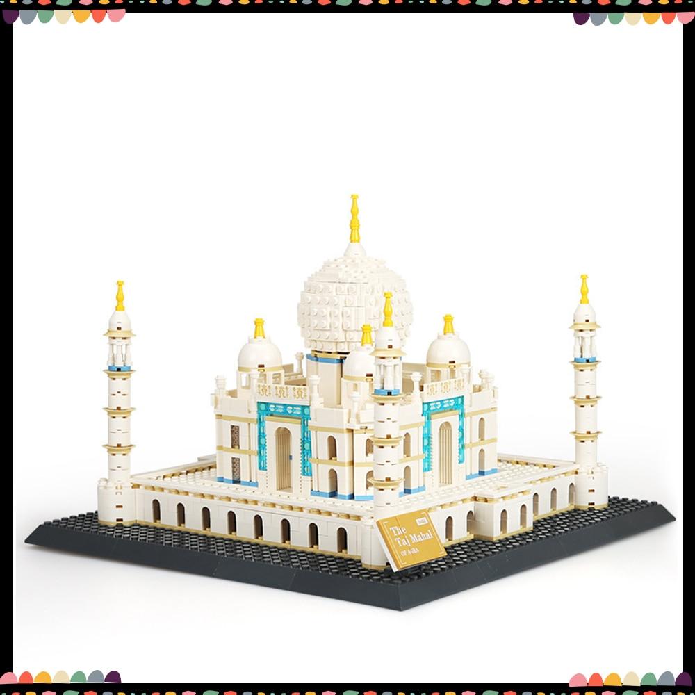 Wange Building Blocks Arag Taj Mahal 1505PCS World Famous Architecture 3D Model Micro Bricks Toys For kids Gifts For Children