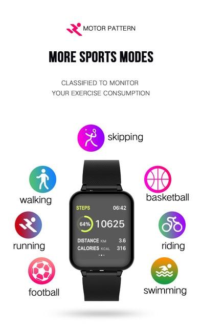B57 smart watch waterproof heart rate monitor blood pressure  sport Women smartwatch women wearable watch men smart clock PK Q9 5