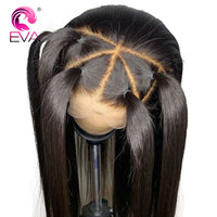 Eva Hair 13x6 Lace Front Human Hair Wigs For Black Women Pre Plucked Brazilian Remy Hair Straight Lace Front Wigs With Baby Hair