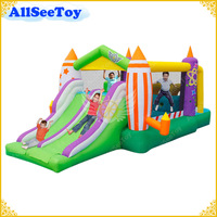 Kids Bounce House Inflatable Double Slide Inflatable Castle Assault Course Inflatable Game