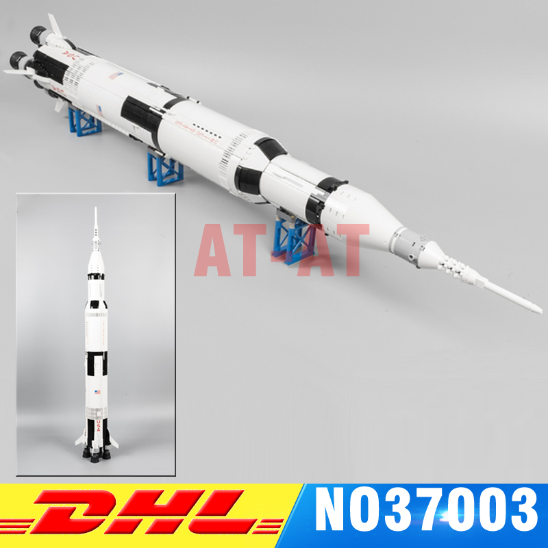 IN STOCK LEPIN 37003 1969Pcs The Apollo Saturn V Launch Vehicle Set Children Educational Building Blocks Bricks Toy 21309 lepin 37003 creative series apollo saturn launch vehicle set building block bricks toys 1969pcs kids gifts 21309