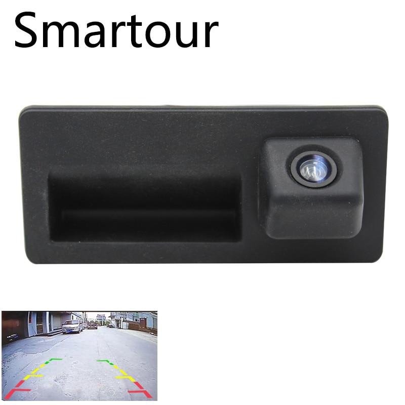 Smartour Car rear reversing camera for Volkswagen Volkswagen Touran L Tiguan L Audi A4L 2017 trunk handle switch CCD camera