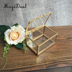 MagiDeal Geometric Glass Jewelry Box Table Succulent Plants Container Home Table Decoration for displaying plants Vase Decor