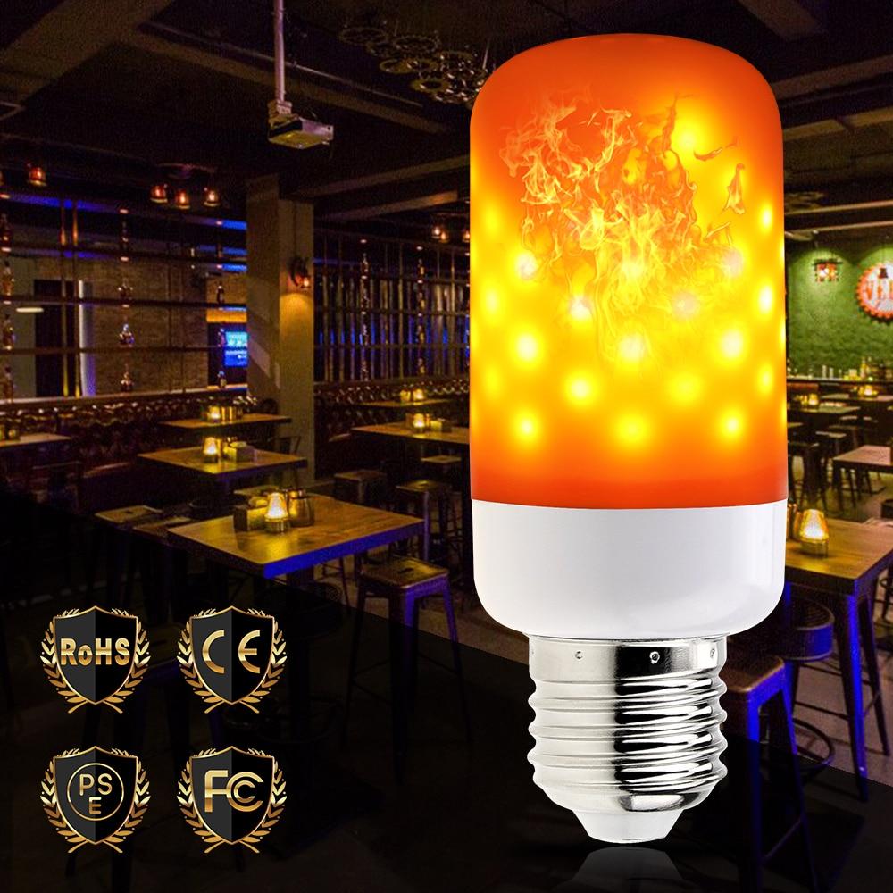 E27 Led Flame Effect Light E14 Bulb E26 AC85-265V Fire Burning Decorative Led Lamp Lantern Ampoule Flickering Emulation New Year