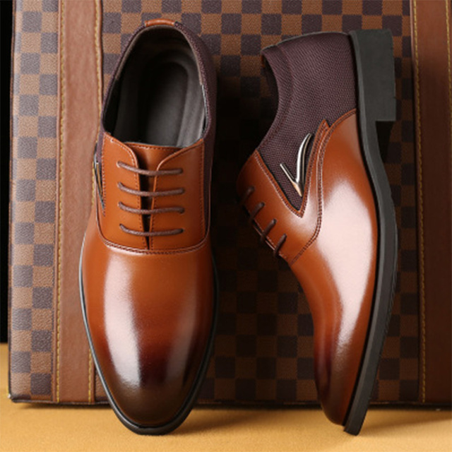 TOURSH Big Size 38-48 Luxury Brand Men S Wedding Dress Shoes Elegant Gentle  Business Shoes Pointed Toe Lace-Up Oxfords For Men 768f271a4ab3