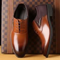 TOURSH Big Size 38 48 Luxury Brand Men'S Wedding Dress Shoes Elegant Gentle Business Shoes Pointed Toe Lace Up Oxfords For Men